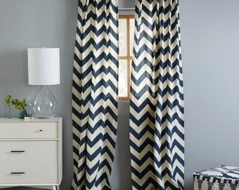 Chevron Curtains Etsy