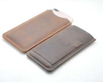 iPhone  8 / 7  plus leather case sleeve with card holder, leather iPhone x sleeve, leather iPhone 8 plus  case leather iPhone 8 / 7 Wallet