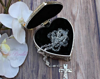 Beautiful Rosary with case! Necklace rosary! Rosary with clasp!