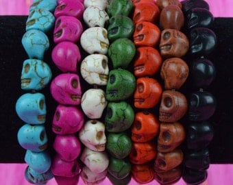 CUSTOM: One to Two Colors Small Skull Bracelet