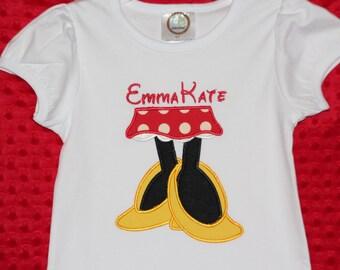 Personalized Minnie Mouse Appliqué Shirt