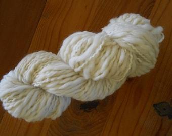 100% Merino Wool Thick and Thin Bulky Weight Yarn Undyed Natural Ecru