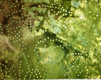 Batik Fabric PORTLAND (Green) 100% Cotton A E Nathan Fabric Co - sold by 1/2 yard