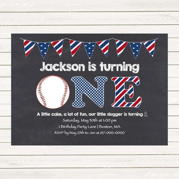baseball 1st birthday invitations baseball invitations red white