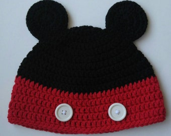 Crochet Mickey Mouse Hat