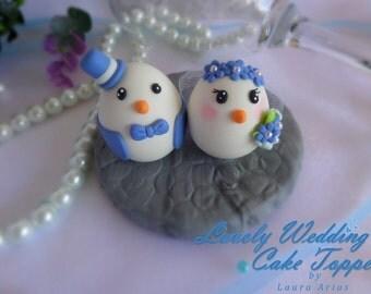 Lovely wedding cake topper birds
