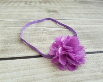 Purple baby headband, baby headband, toddler headband, newborn headband, baby girl headband, flower headband, girl headband