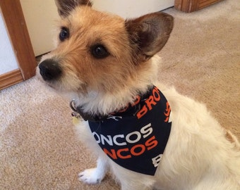 Denver Broncos Dog Bandana.