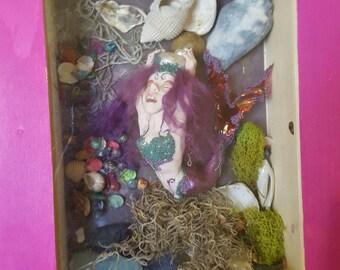 Awesome Mermaid Shadow Box