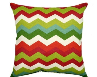 Superior Red And Green Outdoor Pillow Cover   Red And Green Pillow   Panama Wave  Jewel Chevron
