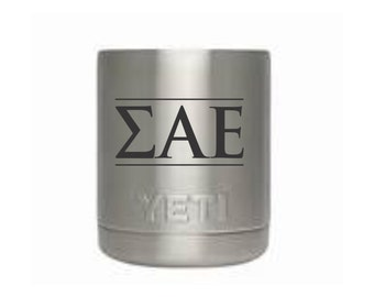 greek letters yeti 10 oz rambler tumbler sigma alpha epsilon greek life fraternity tumbler sae back to college frosh gift blm