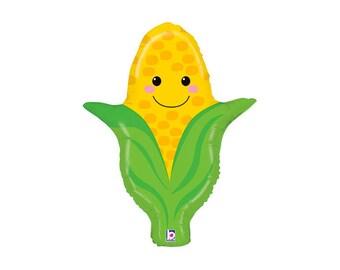 Corn Vegetable Balloon - veggie party mylar decor