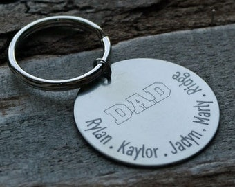 Dad Personalized Key Chain - Engraved