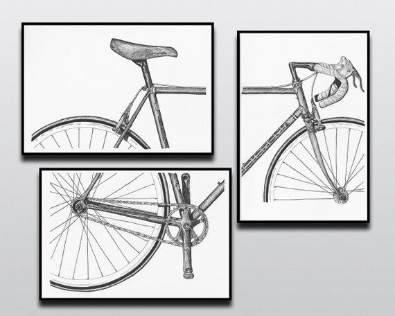 Bicycle Art Print Bike Art Print Vintage Campagnolo