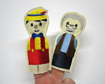 Finger Puppets Pinocchio / Toy / Game / Felt / Embroidery