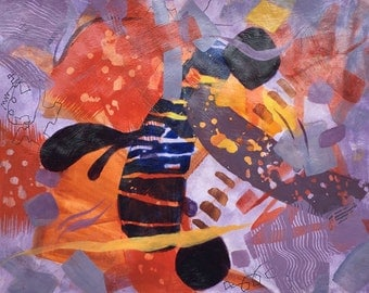 Abstract Painting Original Fine Art Colorful Home Decor-ArtEqualsJoy