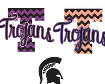 Trojans Svg DXF Cutting File - Cricut Download - DXF For Silhouette