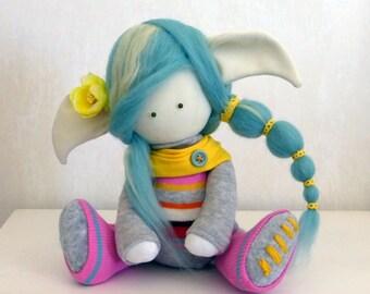 Peppi - Handmade Collection Cloth Dolls - Art Doll - Home Decoration 30 cm