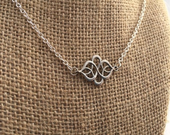 Unique Celtic knot necklace and earrings