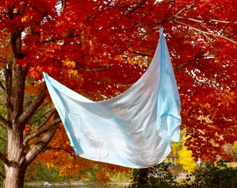 "35""x108"" Playsilk Canopy, Natural Indigo Dye, Hand Dyed, Waldorf Play Silk"