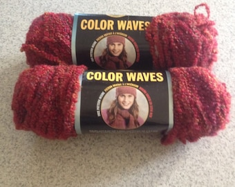 Destash Lot Lion Brand Yarn Color Waves Sunset