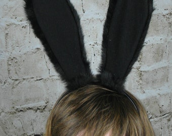 15pcs black and 1pcs white Rabbit Ears Headband  The tire of Christmas and all kinds of party