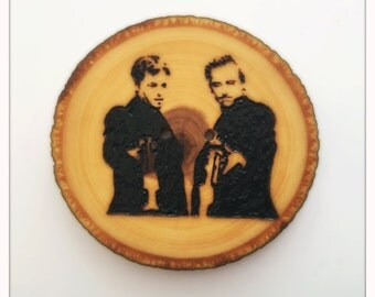 Made to order boondock saints wood burned buttons