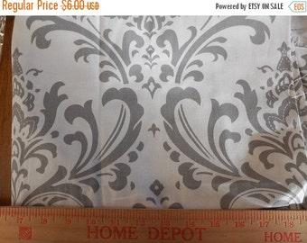 On sale Destash- Home Decor Fabric Remnant Gray and White Damask Premier Prints Ozborne Twill Storm