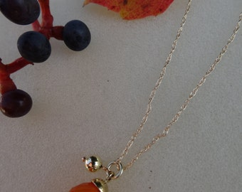 Chain with carnelian gold 585 (14 K).
