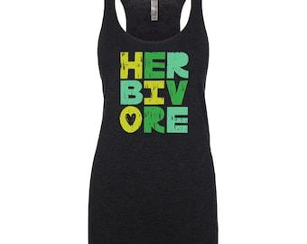 Vegan Shirt - Vegan Clothing - Vegan Tank Top - Herbivore