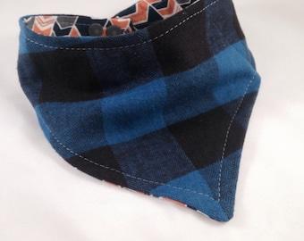 Bibdana bandana bib scarf bib plaid Bibdana reversible bib baby shower gift