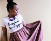 Motherhood Is Sanctifying t-shirt; by Spoonful of Faith