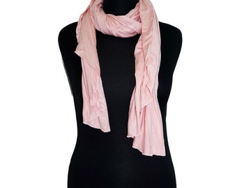 "Cotton Jersey Scarf | 25+ Colors | 67"" by 23 """