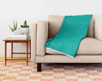 Turquoise Blanket, Turquoise Bedding, Turquoise Throw Blanket, Turquoise Fleece Blanket, Turquoise Throw Blanket, Turquoise Blanket