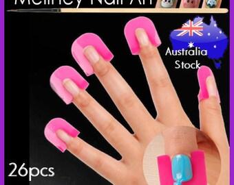 26pc Nail Protector Nail Polish Application Finger clips Toool nail art manicure