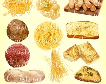 Pasta Clipart Italian Food Clipart Spaghetti Elbow Macaroni Garlic Bread Meatball Sauce Italian Food Clipart Pasta Cliparts Images Graphics