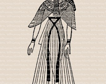 Egypt History Illustration – Educational Clip Art - Ancient Egypt Costumes Image - Egyptian Queen Clipart - PNG and JPEG – commercial use