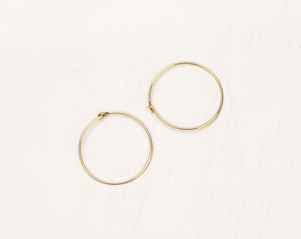 Gold Filled Earrings, Silver Earrings, Rose Gold Earrings Gold Hoop Earrings Simple Hoop Earrings, Thin Delicate Earrings, Dainty Gold Hoops