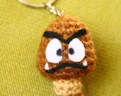 Goomba - Mario Bros. - 5cm amigurumi