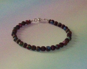 Mosaic Agate Beaded Bracelet