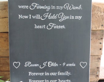 Loss Of Child, Miscarriage, Miscarriage Sympathy Gift, Hand Painted Wooden Sign, Loss of Child Sympathy, Loss of Child Memorial Sign
