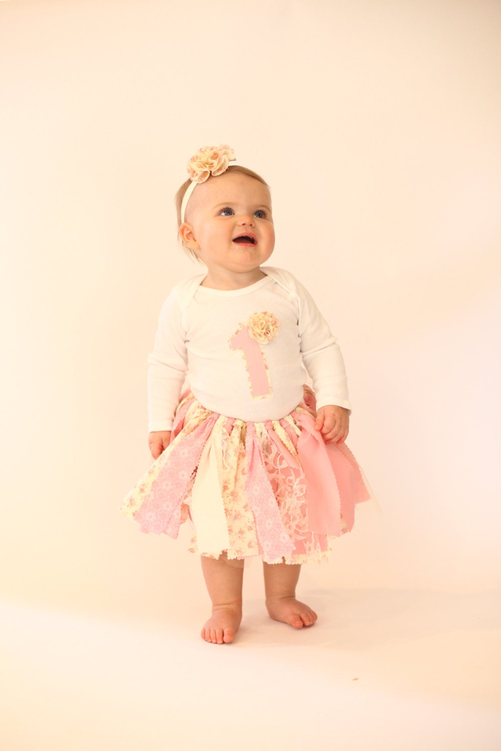 Shabby chic first birthday outfit number by mksbowtique on etsy - Shabby chic outfit ideas ...