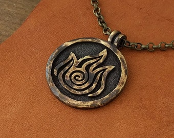 Avatar Last Airbender Fire Nation Necklace Pendant
