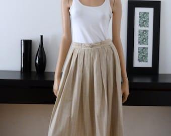 Jupe vintage ROSE-DIRNDL beige/dentelle/crochet taille 38- uk 10 - us 6