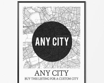 Custom City Map - Any Location in the World!