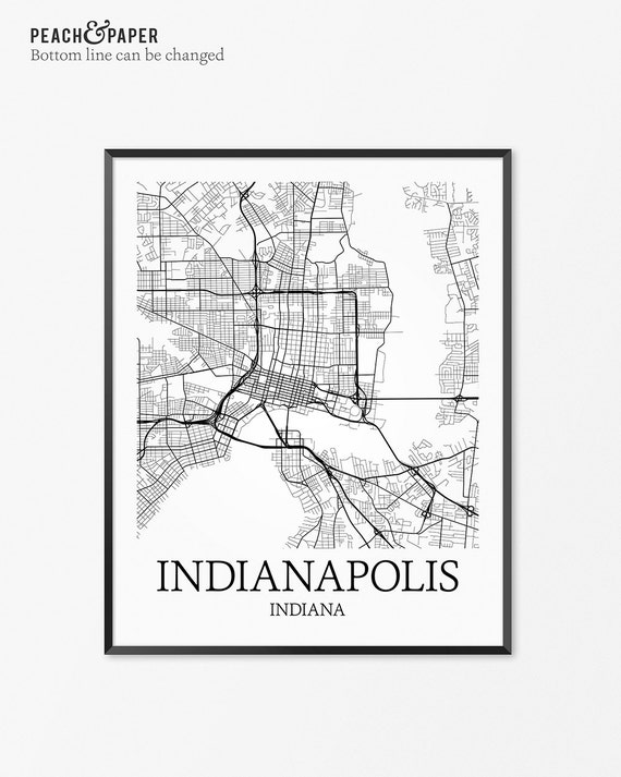 wholesale home decor indianapolis indianapolis map print indianapolis poster map of 11833