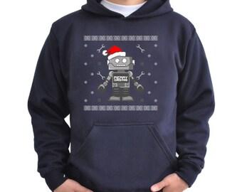Cute robot santa Hoodie