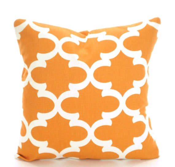 Orange Decorative Bed Pillows : Orange Pillow Covers Decorative Throw Pillows Cushions