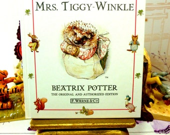 The Tale of Mrs Tiggy Winkle by Beatrix Potter Beautiful Illustrations Vintage Hardback Book 1st Edition Thus