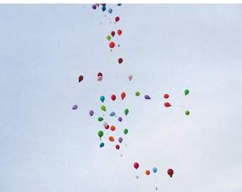 Greeting card of balloons